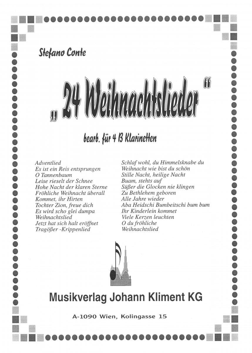 Kliment/Detail/24 Weihnachtslieder (4017162)